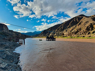 Ambiente, UNSJ e Hidráulica realizan monitoreos en el río San Juan