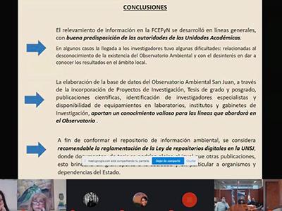 Observatorio ambiental: presentación de resultados sobre relevamiento en exactas